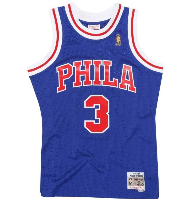 Maillot Sixers Philadelphie Allen Iverson 95-96 HWC Swingman Mitchell and Ness