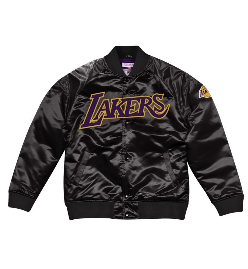 Veste en Satin Mitchel and Ness Los Angeles Lakers