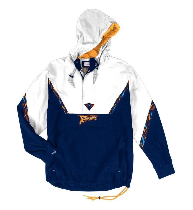Half-Zip Anorak Golden State Warriors Mitchell & Ness
