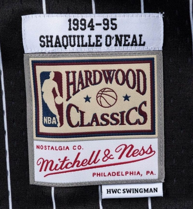 Shaquille O'Neal - Maillot Swingman - Mitchell and Ness - etiquette