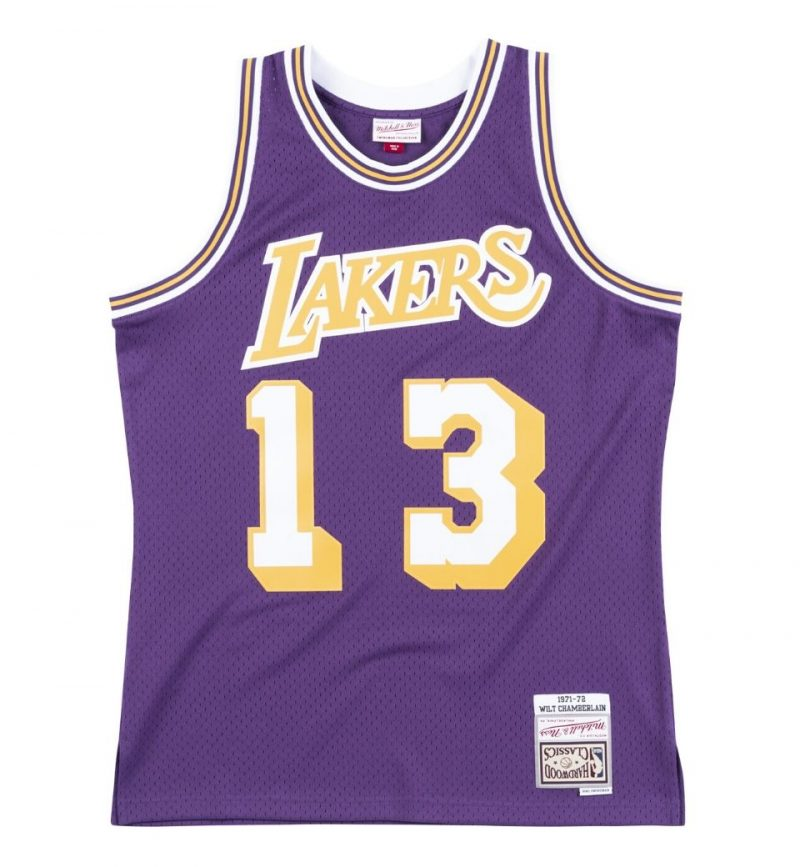 Mailllot Wilt Chamberlain Los Angeles Lakers 71-72 Mitchell & Ness
