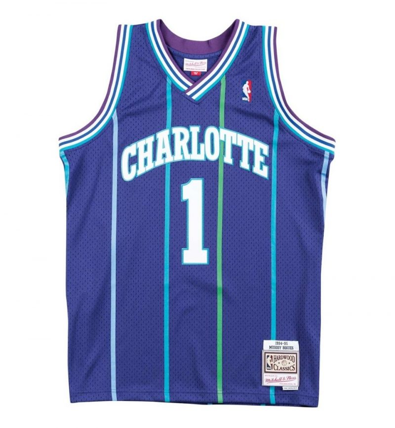 Maillot Mugsy Bogues - Mitchell and Ness - Hornets 94-95 - face