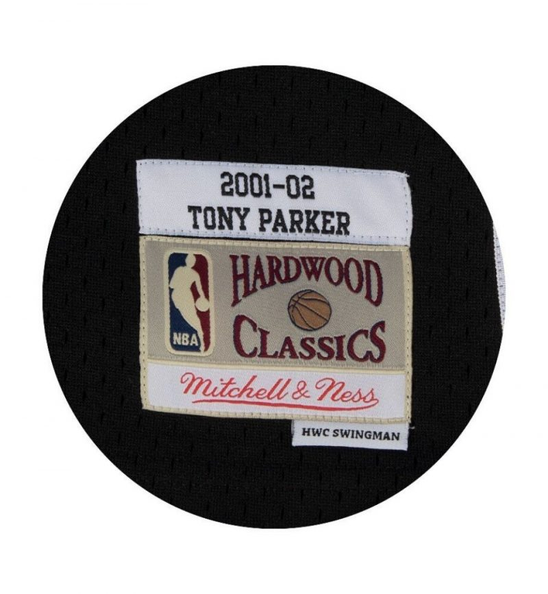 Maillot NBA Tony Parker San Antonio Spurs 2001 - 2002 - Mitchell and Ness - label