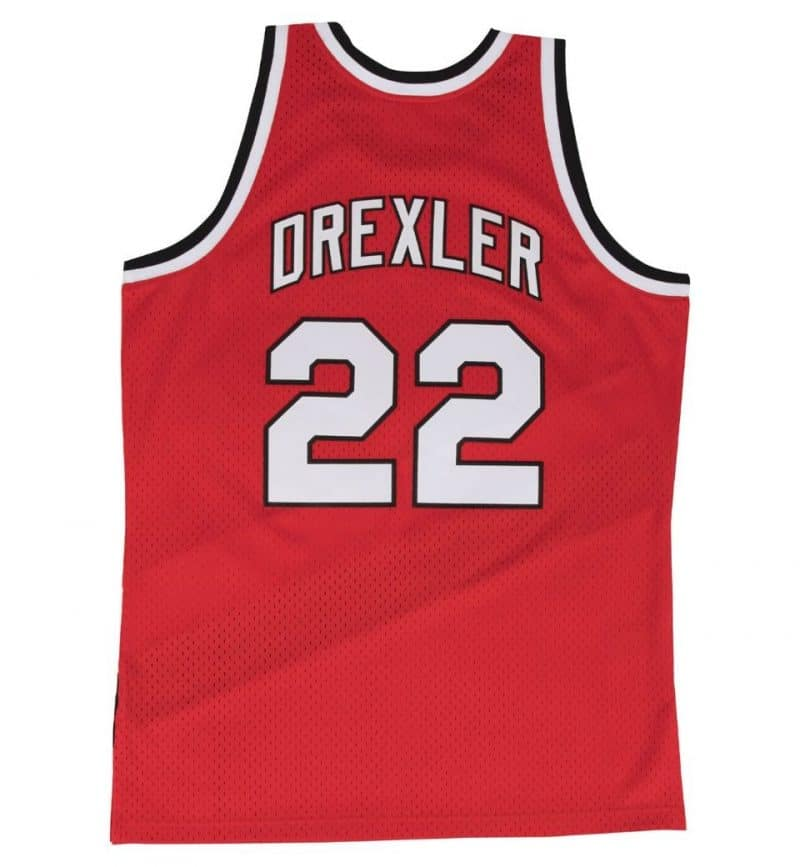 Maillot Clyde Drexler - Mitchell and Ness - Swingman - dos