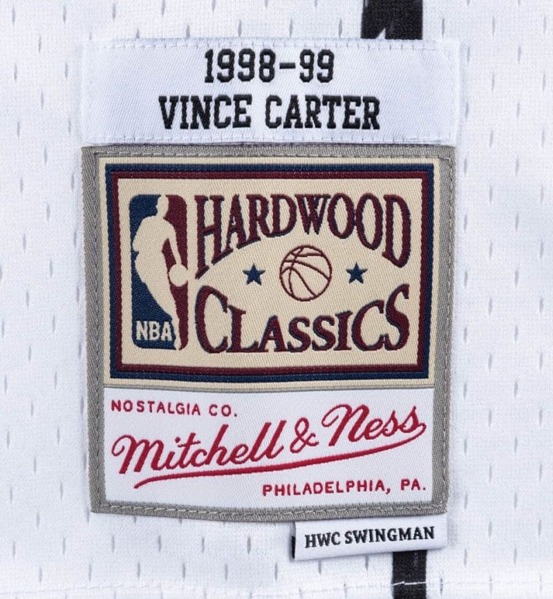 Vince Carter - Mitchell and ness - Maillot vintage - etiquette