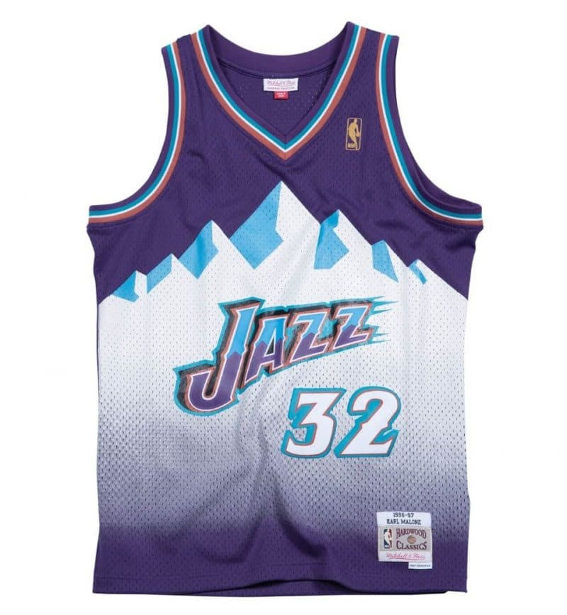 Karl Malone - Maillot vintage - Mitchell and Ness