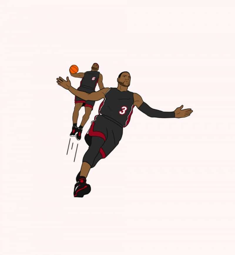 T-Shirt DROQ - Lebron James & Dwayne Wade
