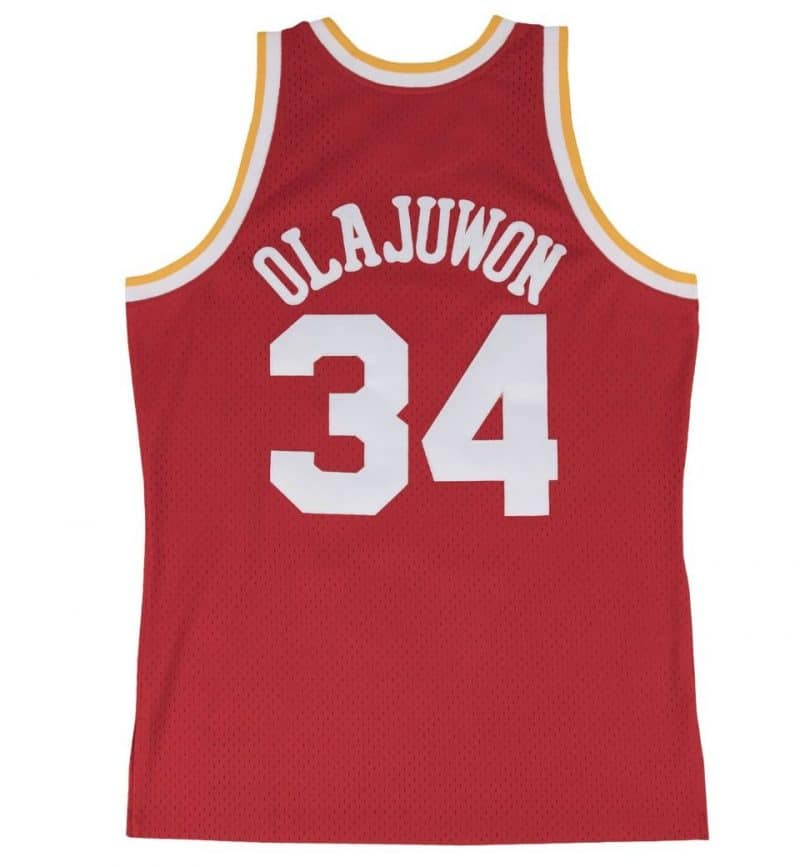 Maillot Hakeem Olajuwon - Houston Rockets - dos