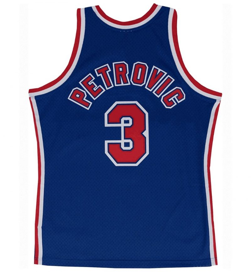 Maillot Drazen Petrovic - New Jersey Nets - dos