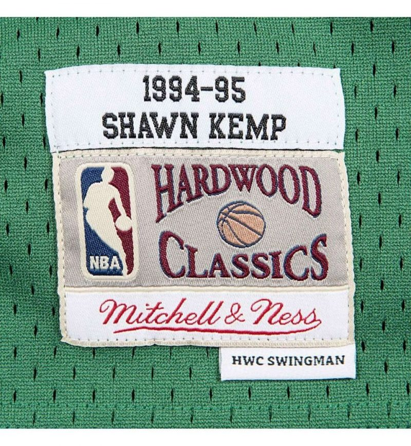 Maillot Shawn Kemp - Seattle Supersonics - etiquette