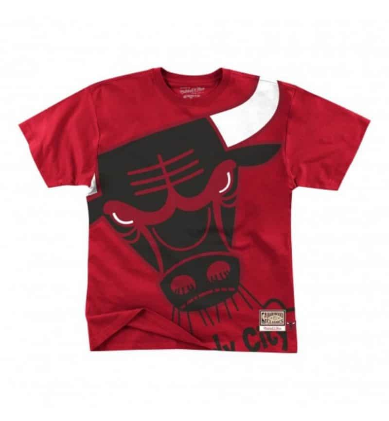 T-shirt Chicago Bulls - Big Face Mitchell & Ness