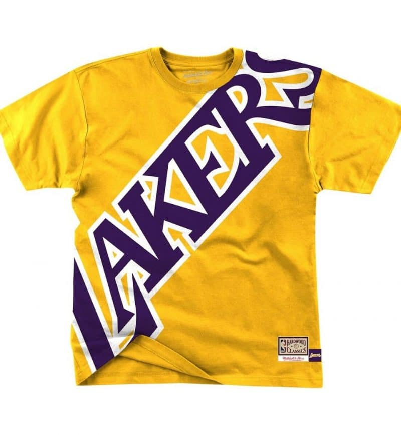T-shirt Los Angeles Lakers - Big Face Mitchell & Ness