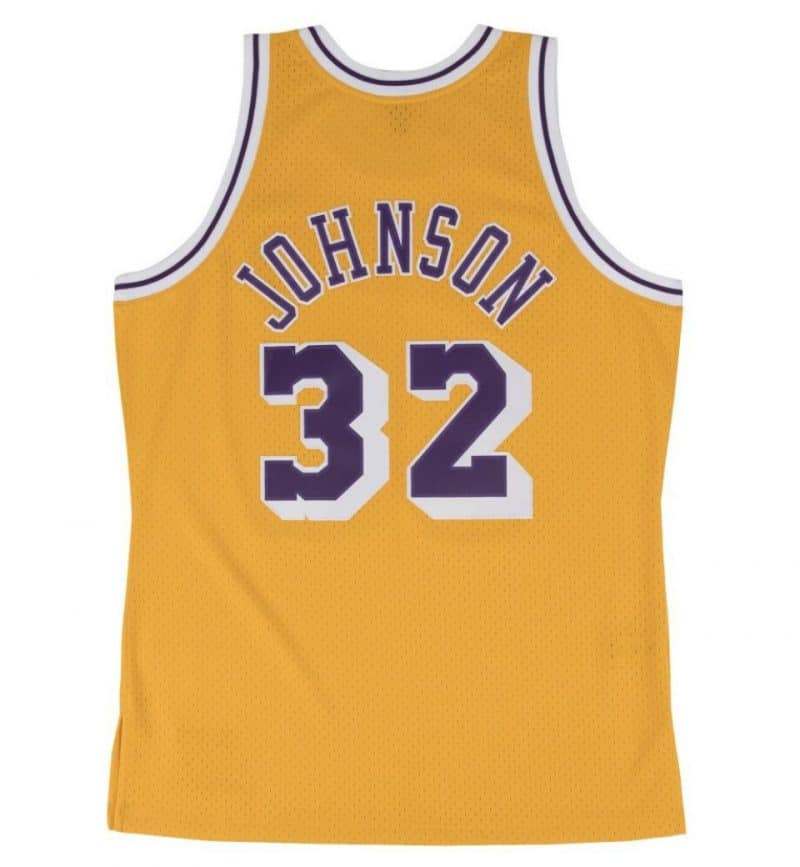 Maillot Magic Johnson - Los Angeles Lakers - Mitchell and Ness - dos