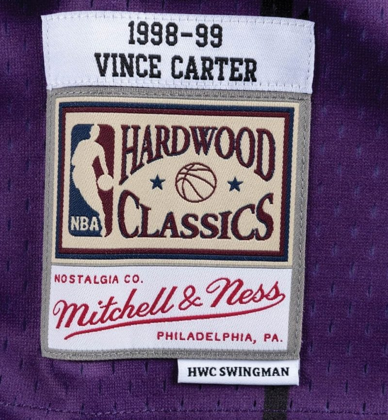 Maillot Vince Carter Toronto Raptors - Mitchell and Ness - etiquette