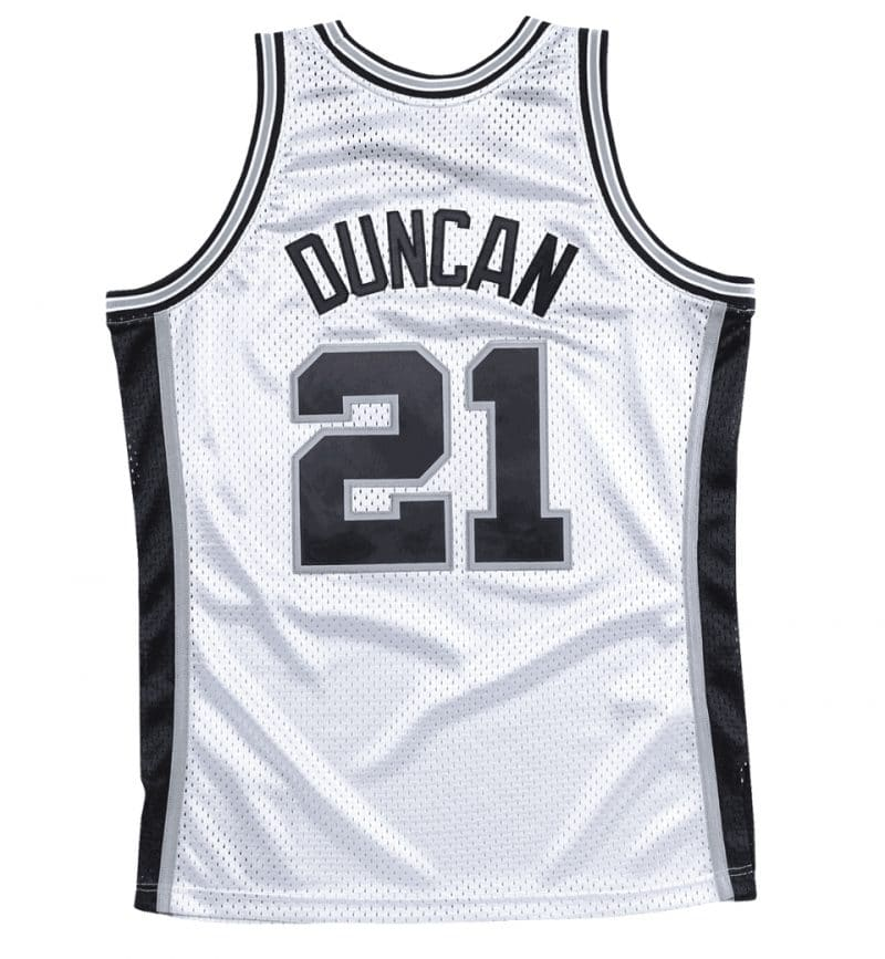 Maillot Tim Duncan San Antonio Spurs- Mitchell and Ness - dos