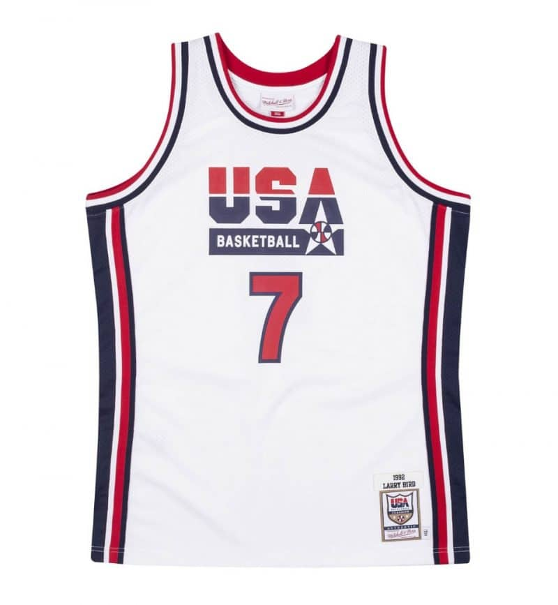 Maillot NBA Team USA 92 Larry Bird Mitchell and Ness Authentic