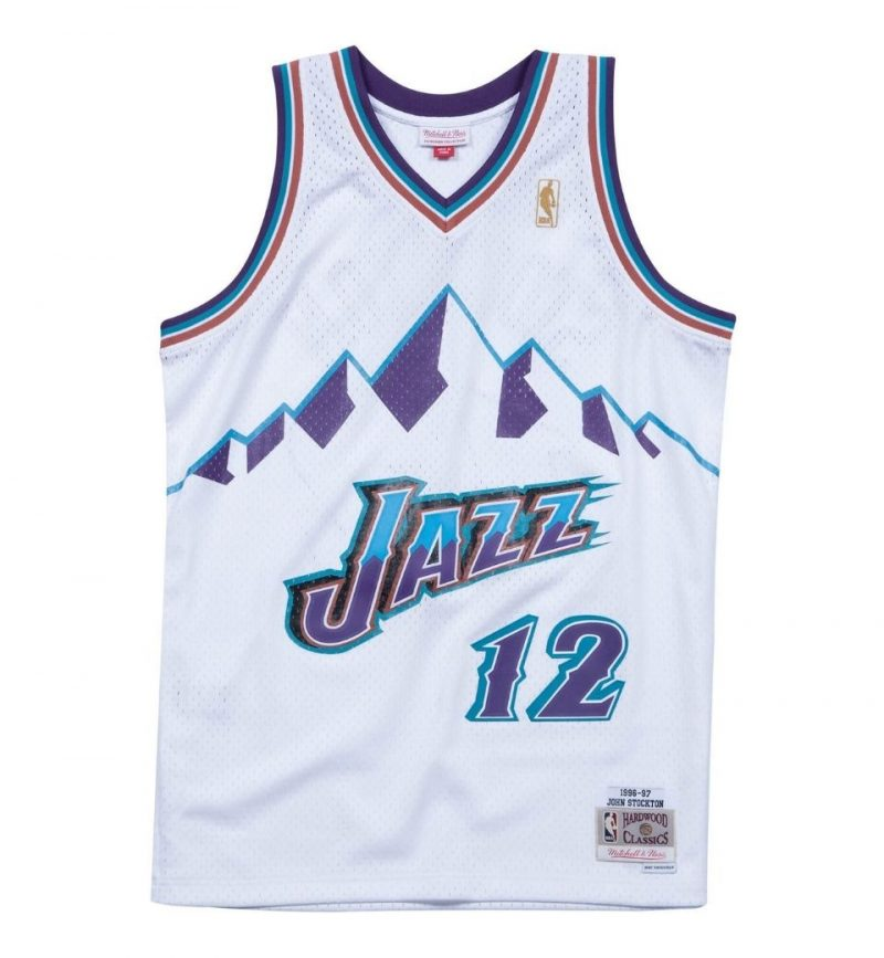 Maillot John Stockton Utah Jazz 96-97 - Mitchell and Ness