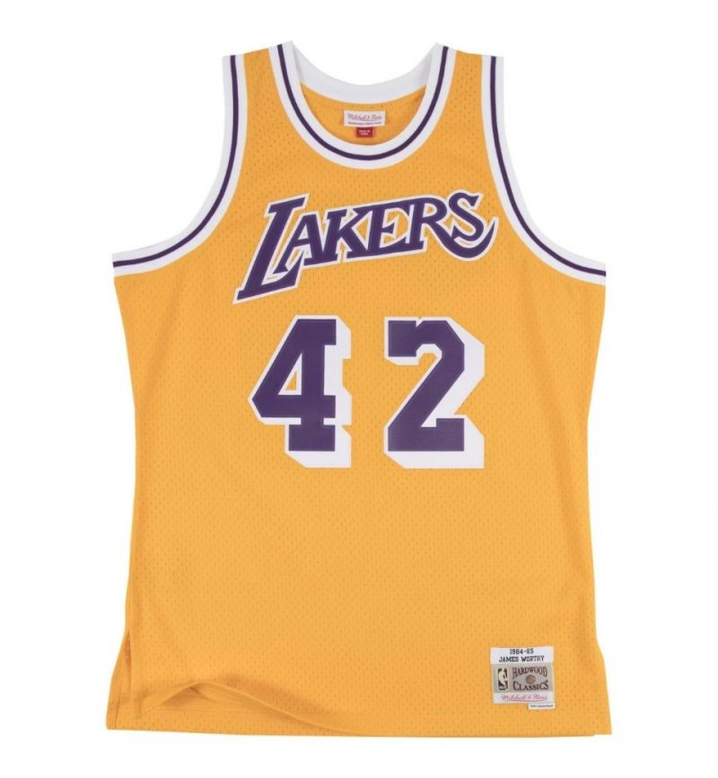 Maillot James Worthy Los Angeles Lakers 84-85 - Mitchell and Ness