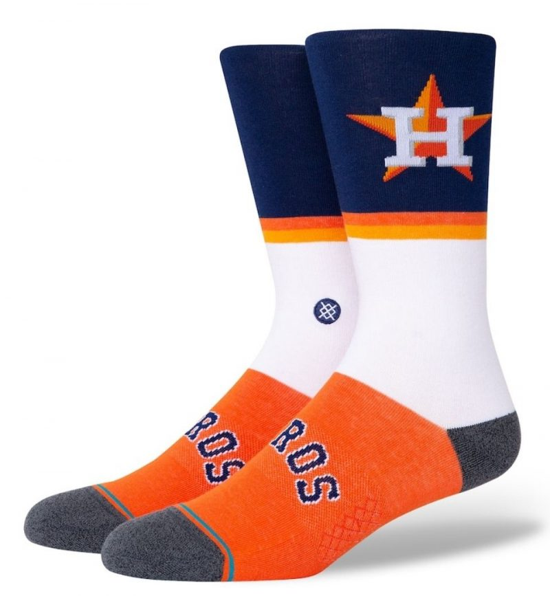 Socks Medium MLB Houston Astros Shortcut Stance