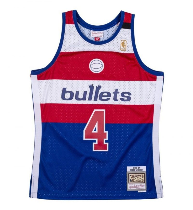Maillot Chris Webber - Washington Bullets - Mitchell & Ness