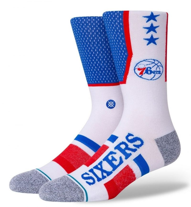 Socks Medium Philadelphia Sixers Shortcut Stance