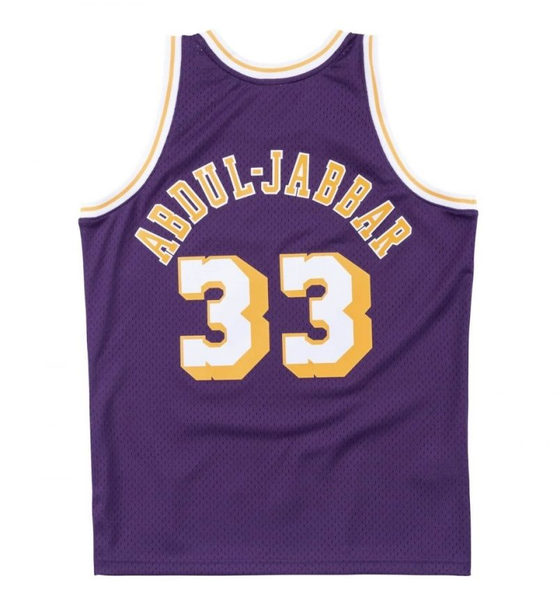 Maillot Kareem Abdul Jabbar - Los Angeles Lakers - Mitchell & Ness - dos