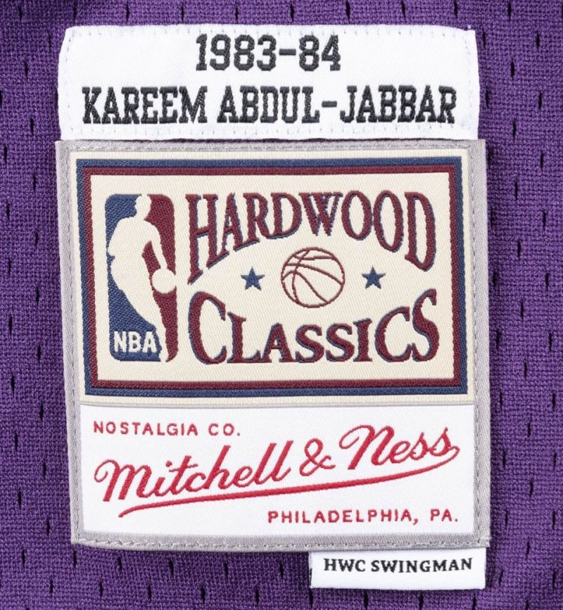 Maillot Kareem Abdul Jabbar - Los Angeles Lakers - Mitchell & Ness - etiquette