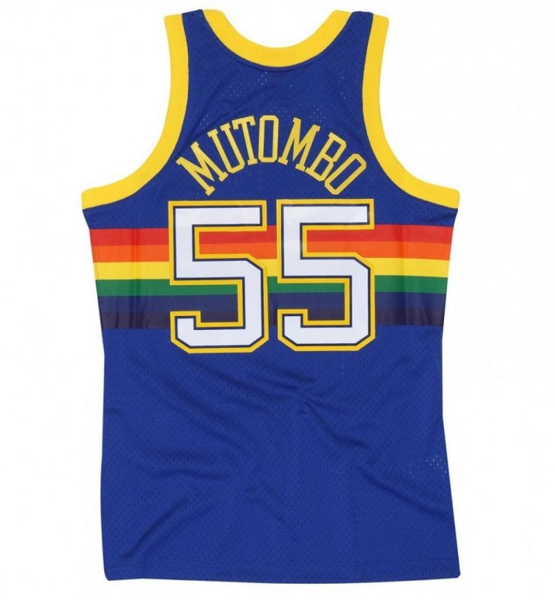 Maillot Dikembe Mutombo - Denver Nuggets - Mitchell and Ness
