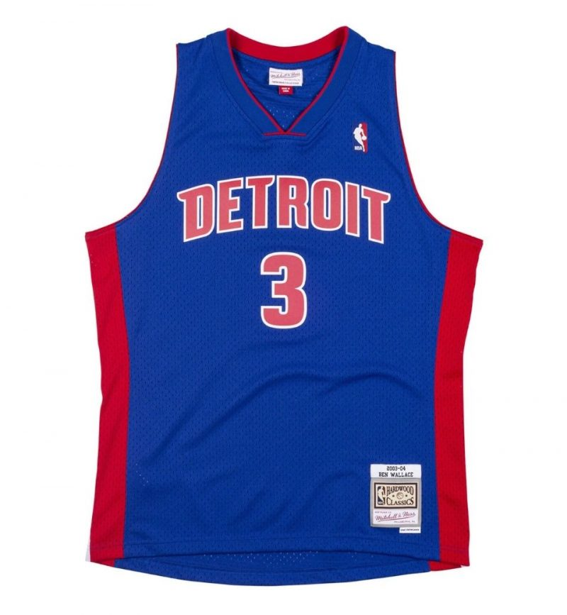 Maillot Ben Wallace Detroit Pistons 2003-04 Mitchell & Ness