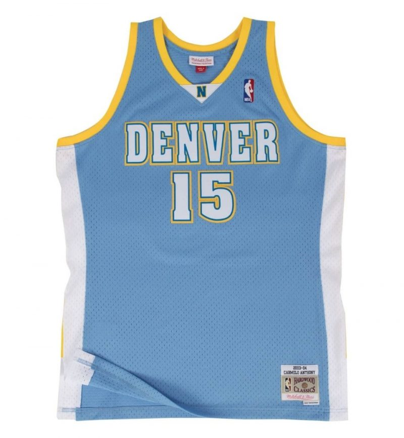 Maillot Carmelo Anthony Denver Nuggets 2003-04 Mitchell and Ness