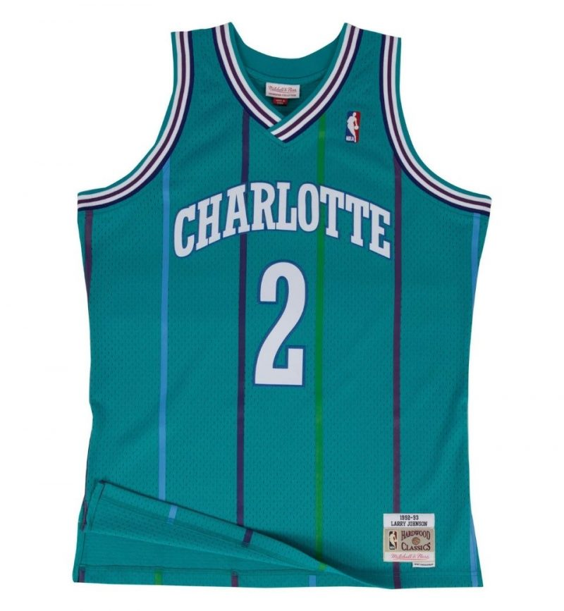 Maillot Larry Johnson Charlotte Hornets 1992-93 - Mitchell and Ness