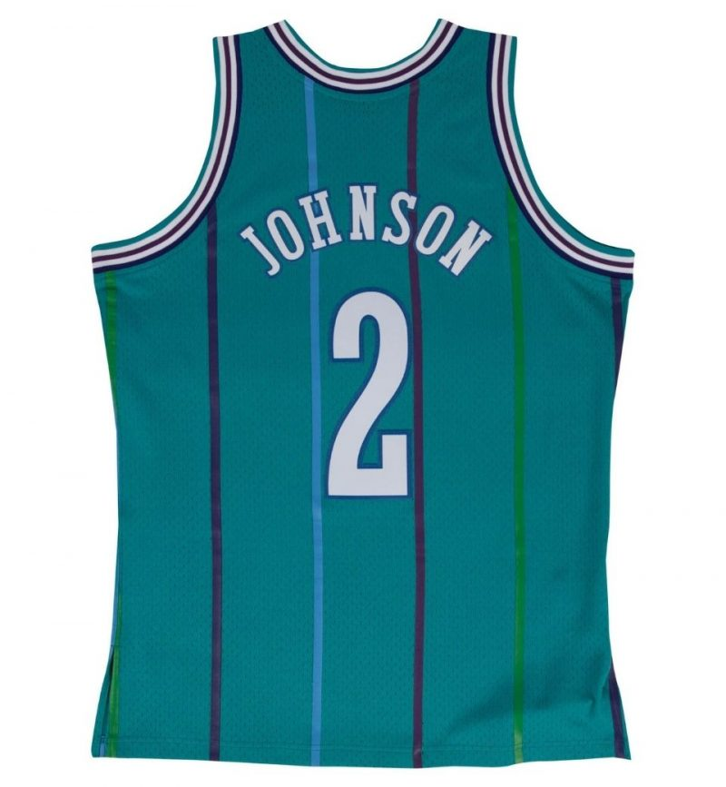 Maillot Larry Johnson Charlotte Hornets 1992-93 - Mitchell and Ness - dos