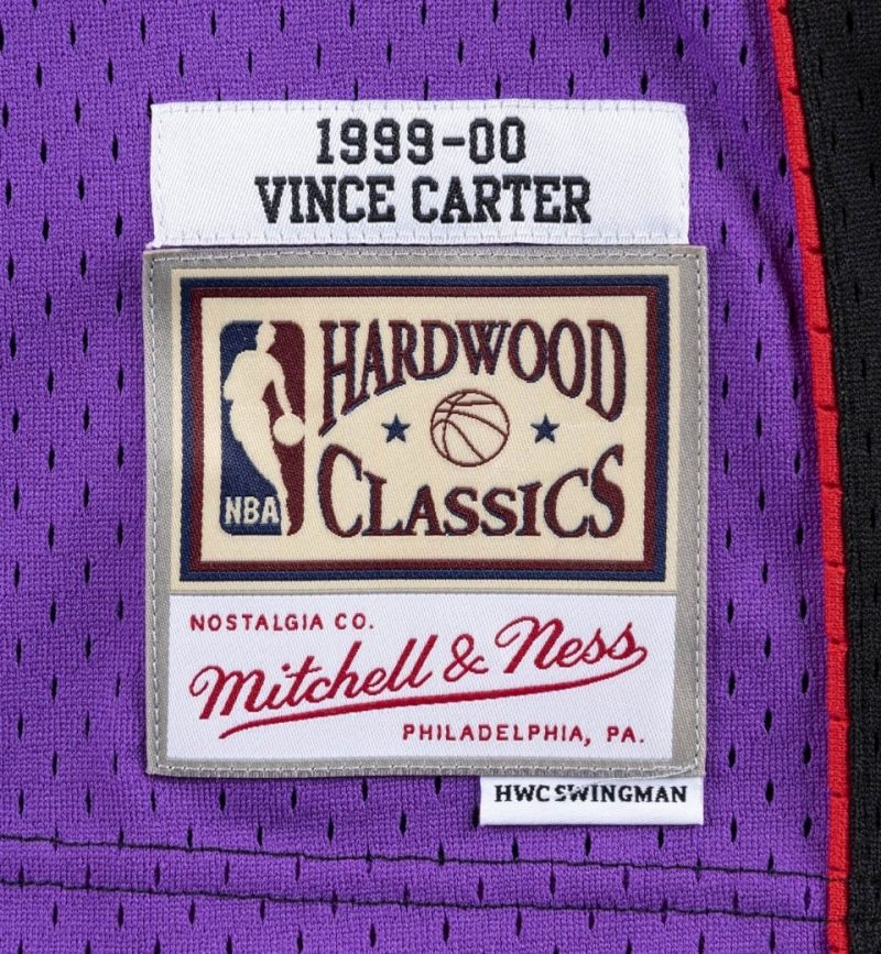 Maillot Vince Carter Mitchell and Ness Toronto Raptors - etiquette