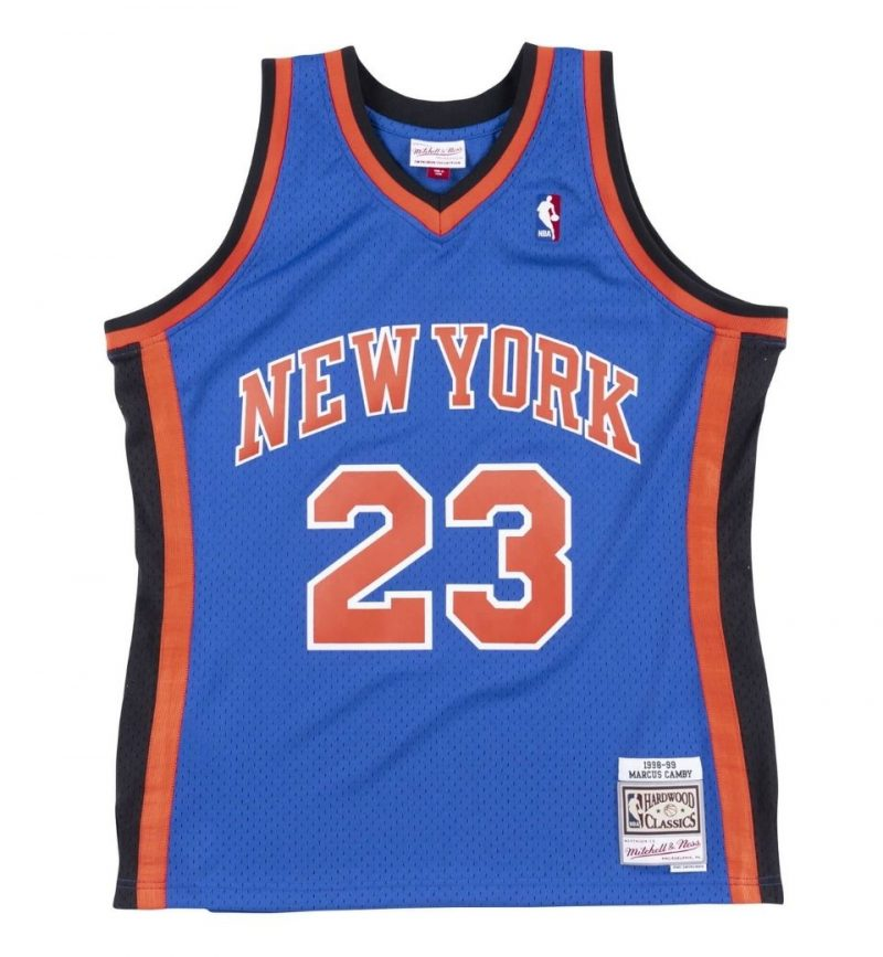 Maillot Marcus Camby New York Knicks - Mitchell and Ness