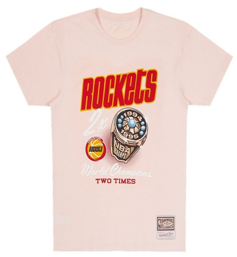 T-Shirt vintage NBA Houston Rockets Pastel Rings Tee - Mitchell and Ness