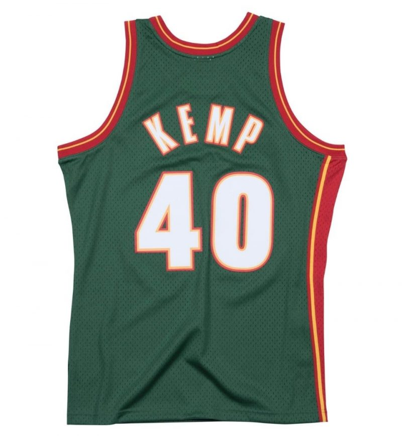 Shawn Kemp Seattle Supersonics - 1995-96 - Mitchell and Ness - dos