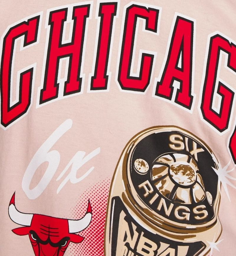 T-Shirt vintage NBA Chicago Bulls Pastel Rings Tee - Mitchell and Ness - logo